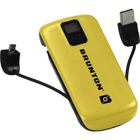 Brunton Metal 4400mAh Lithium-Polymer Battery, Yellow - for Tablets, Smartphones, and Other Mobile Devices