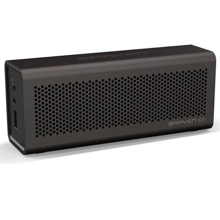 Braven 600 Portable Wireless Speaker/Speakerphone/Mobile Phone Charger, 33' Bluetooth Range, Ash Gray