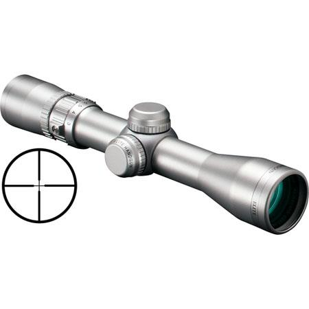"Bushnell 2-6x32mm Elite Handgun Scope, Matte Silver Finish with Multi-X Reticle, 20"" Eye Relief."