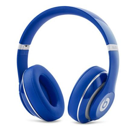 Beats by Dr. Dre Studio Wireless Over Ear Headphones, 3.5mm Jack, USB Power Adapter, USB 2.0, Blue