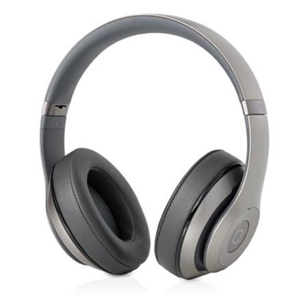 Beats by Dr. Dre Studio Wireless Over Ear Headphones, 3.5mm Jack, USB Power Adapter, USB 2.0, Titanium