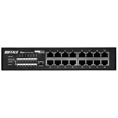Buffalo BS-G2116U 16-Port SMB Rackmount Gigabit Switch