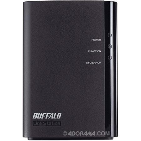 Buffalo 4TB LinkStation Duo Network Storage, USB 2.0 + Gigabit Ethernet RAID 0 + RAID 1 + JBOD