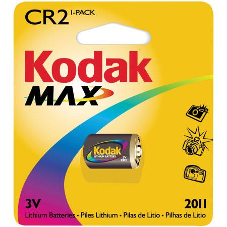 Kodak Max CR2 Battery, 3.0 volt Lithium, KCR2. image