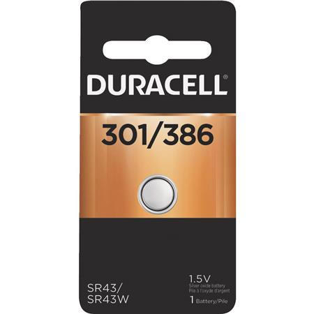 Duracell D301/386 Watch / Electronic Silver Oxide Battery, 1.5 Volt