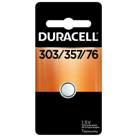 Duracell D303/357 Watch/Electronic Silver Oxide Battery, 1.5 Volt