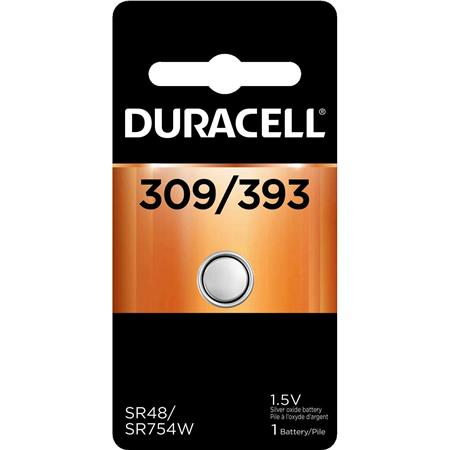 Duracell D309/393 Watch/Electronic Silver Oxide Battery, 1.5volt