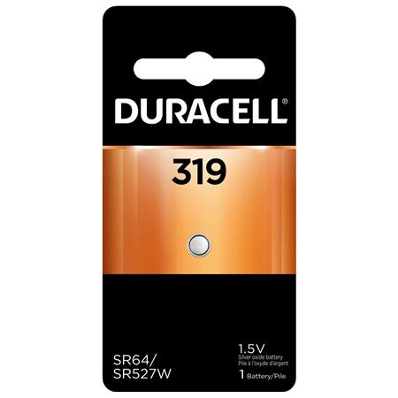 Duracell D319B Watch/Electronic Silver Oxide Battery, 1.5 Volt