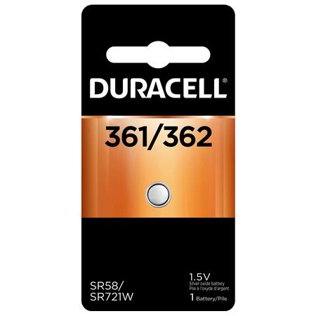 Duracell D361/362 Watch/Electronic Silver Oxide Battery, 1.5 Volt