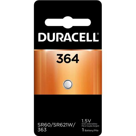 Duracell D364 Watch/Electronic Silver Oxide Battery, 1.5 Volt