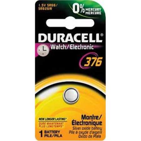 Duracell D376 Watch/Electronic Silver Oxide Battery, 1.5 Volt