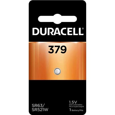 Duracell D379 Watch/Electronic Silver Oxide Battery, 1.5 Volt