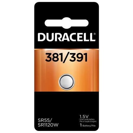 Duracell D381/391 Watch/Electronic Silver Oxide Battery, 1.5volt