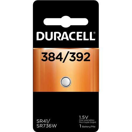 Duracell D384/392 Watch/Electronic Silver Oxide Battery, 1.5 Volt
