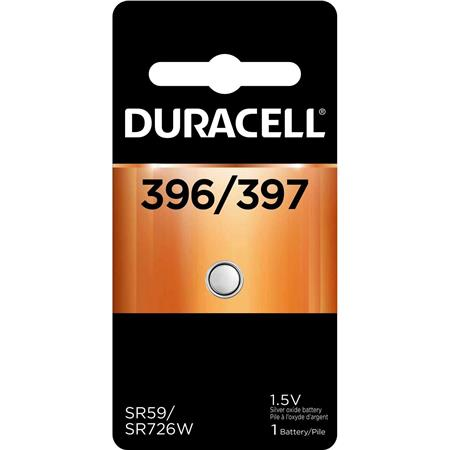 Duracell D396/397 Watch/Electronic Silver Oxide Battery, 1.5volt