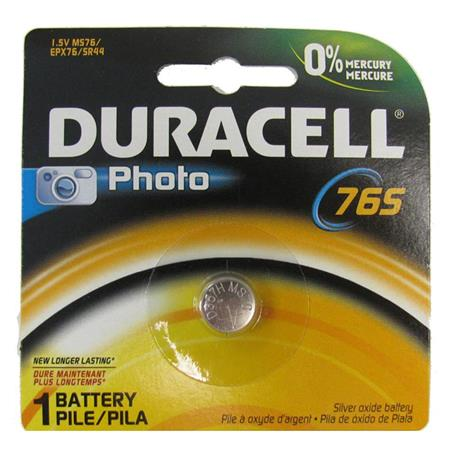 Duracell MS76 Silver Oxide Battery, 1.5volt