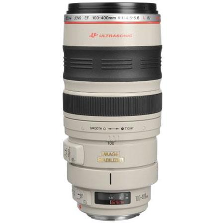 Canon EF 100-400mm f/4.5-5.6L USM AutoFocus Image Stabilized Telephoto Zoom Lens with Hood & Tripod Mount - USA
