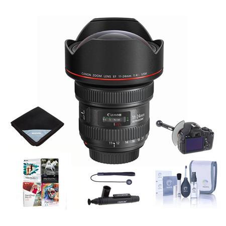 Canon EF 11-24mm f/4L USM Ultra-Wide Zoom Lens - Bundle With FocusShifter DSLR Follow Focus & Rack Focus, Lens Wrap (19x19), Cleaning Kit, Lenspen Cleaner, Universal Lens Cap Tether