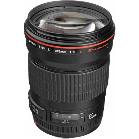 Canon EF 135mm f/2L USM AutoFocus Telephoto Lens - USA