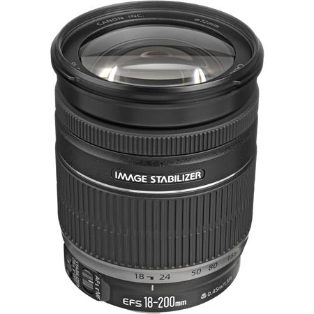 Canon EF-S 18-200mm f/3.5-5.6 IS Auto Focus Lens -  U.S.A. Warranty