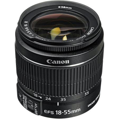 Canon EF-S 18-55mm f/3.5-5.6 IS II Auto Focus Lens - U.S.A. Warranty