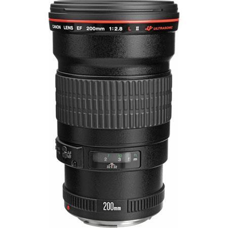 Canon EF 200mm f/2.8L-II (USM) Auto Focus Telephoto Lens with Case & Hood - USA
