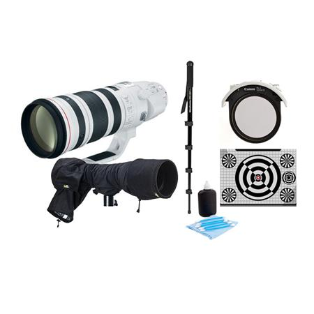Canon EF 200-400mm f/4L IS USM with Built-in Extender 1.4x Lens - U.S.A Warranty - Bundle With Canon 52 Drop-In Circular Polarizer Filter, LensAlign MkII Focus Calibration System, Bogen Monopod, LensCoat RainCoat Pro, Black, Cleaning Kit
