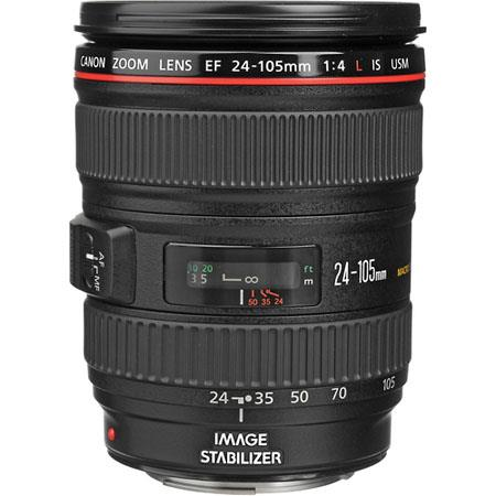 Canon Canon EF 24-105mm f/4L IS USM AutoFocus Wide Angle Telephoto Zoom Lens - Refurbished