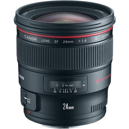 Canon EF 24mm f/1.4L II USM AutoFocus Wide Angle Lens - USA