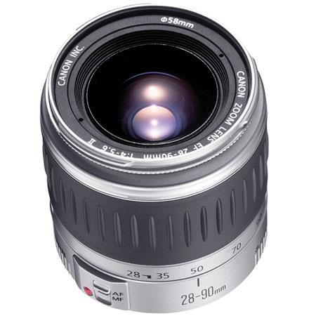 Canon EF 28-90mm f/4-5.6 II Wide Angle-Telephoto Auto Focus Zoom Lens - Silver - Refurbished by Canon USA image