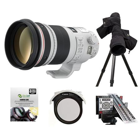 Canon EF 300mm f/2.8L IS II USM Image Stabilizer Telephoto Lens with Case & hood - USA - Bundle With New Leaf 3 Year (Drop s & Spills) Warranty, LensAlign MkII Focus Calibration System, Canon ERC-E4M Raincover, Canon 52 Drop-In Circular Polarizer Filter