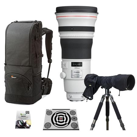 Canon EF 400mm f/2.8L IS II USM Image Stabilizer Super Telephoto Lens, USA Warranty - Bundle With Lowepro Lens Trekker 600 AW III Backpack Black, New Leaf 3 Year (Drops & Spills) Warranty, LensAlign MkII Focus Calibration System, LensCoat RainCoat Pro, Black
