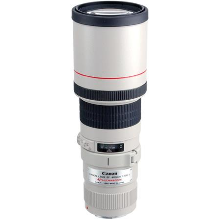 Canon EF 400mm f/5.6L USM AutoFocus Telephoto Lens with Built-in Hood & Case - USA