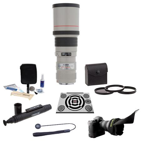 Canon EF 400mm f/5.6L USM AutoFocus Lens USA Bundle with 77mm Photo Essentials Filter Kit, Flex Lens Shade, LensAlign MkII Focus Calibration System, Lens Cap Leash, Professional Lens Cleaning Kit, LensPen Lens Cleaner