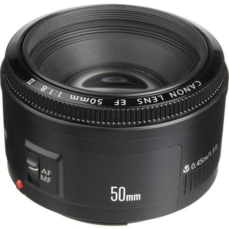 Canon EF 50mm f/1.8 II Standard AutoFocus Lens - USA image