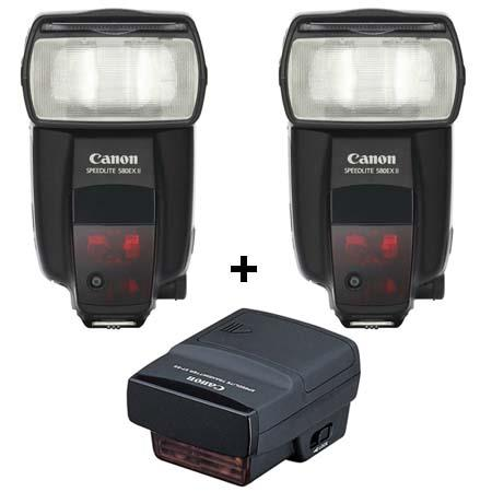 Canon Wireless E-TTL Multi Kit with Two 580EX II Flashes and Transmitter ST-E2, USA Warranty image
