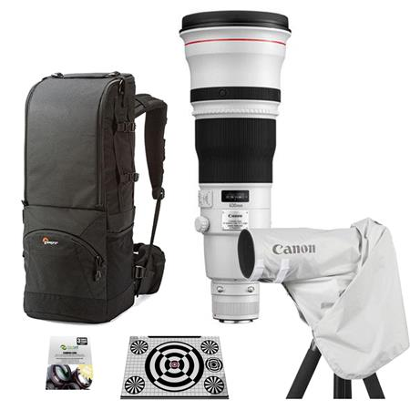 Canon EF 600mm f/4L IS II USM IS AutoFocus Telephoto Lens - USA Warranty - Bunle With Lowepro Lens Trekker 600 AW II Backpack Black, New Leaf 3 Year (Drops & Spills) Warranty, LensAlign MkII Focus Calibration System, ERC-E4L Raincover for EOS Cameras & Le