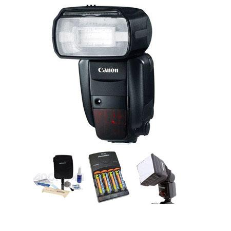 Canon Speedlite 600EX-RT, Shoe Mount Flash U.S.A. Warranty - Basic Outfit - with 4 NiMH Batteries, Charger, Mini Soft Box Diffuser, Cleaning Kit