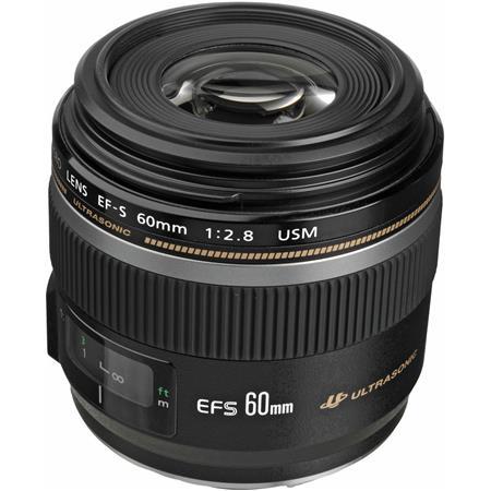 Canon EF-S 60mm f/2.8 Compact Macro AutoFocus Lens - USA