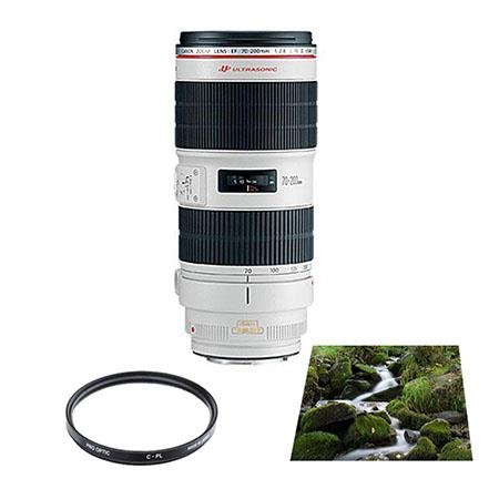 Canon EF 70-200mm f/2.8L IS II USM AutoFocus Lens - USA - Advanced Kit - with VU Sion 7mm Circular Polarizer Multi Coated Glass Filter & Vu-Sion 77mm (2x) Neutral Density Glass Filter
