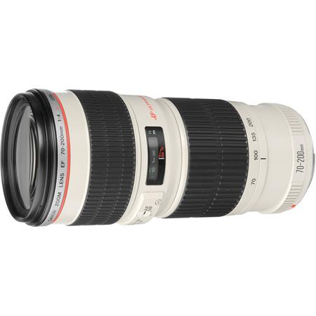 Canon EF 70-200mm f/4L USM Autofocus Telephoto Zoom Lens with Case & Hood - USA