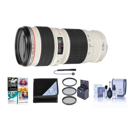 Canon EF 70-200mm f/4L USM AF Lens Kit, USA with 67mm UV Filter, Lens Cap Leash, Professional Lens Cleaning Kit