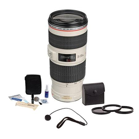 Canon EF 70-200mm f/4L IS USM Autofocus Lens Kit, USA with 67mm Photo Filter Kit, Lens Cap Leash, Professional Lens Cleaning Kit
