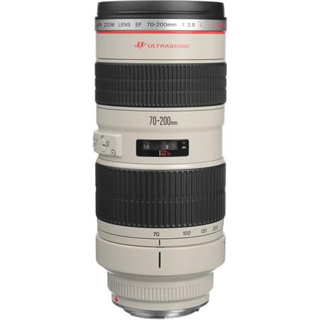 Canon EF 70-200mm f/2.8L USM AutoFocus Telephoto Zoom Lens with Case & Hood - USA