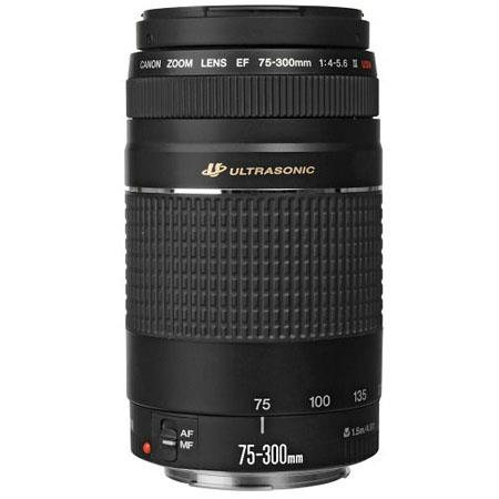 Canon EF 75-300mm F/4-5.6 III USM Autofocus Telephoto Zoom Lens - USA Warranty