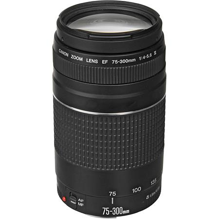 Canon EF 75-300mm F/4-5.6 III Autofocus Telephoto Zoom Lens - USA