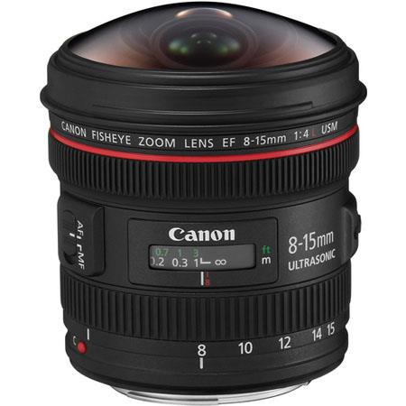 Canon EF 8-15mm f/4.0L USM Wide Fisheye Zoom Lens - Diagonal Angle of View 180 - U.S.A. Warranty