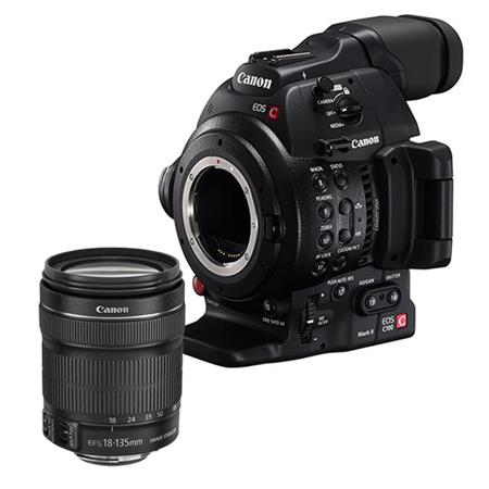 Canon EOS C100 Mark II Cinema Camcorder Kit with EF-S 18-135mm f/3.5-5.6 IS STM Zoom Lens - With Dual Pixel CMOS AF Feature Upgrade
