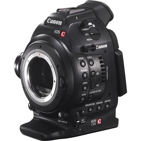 Canon EOS C100 Cinema Camcorder Body with Dual Pixel CMOS AF Feature Upgrade - EF Lens Mount