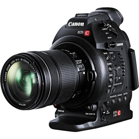 Canon EOS C100 Cinema Camcorder Kit with Canon EF-S 18-135/3.5-5.6 IS STM Zoom Lens - With Dual Pixel CMOS AF Feature Upgrade